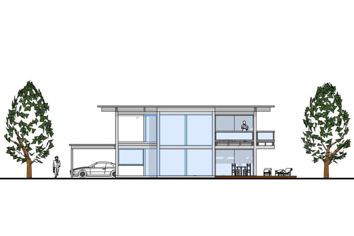 Detmolder Fachwerkhaus – Flachdach beim mordernen Fachwerkhaus
