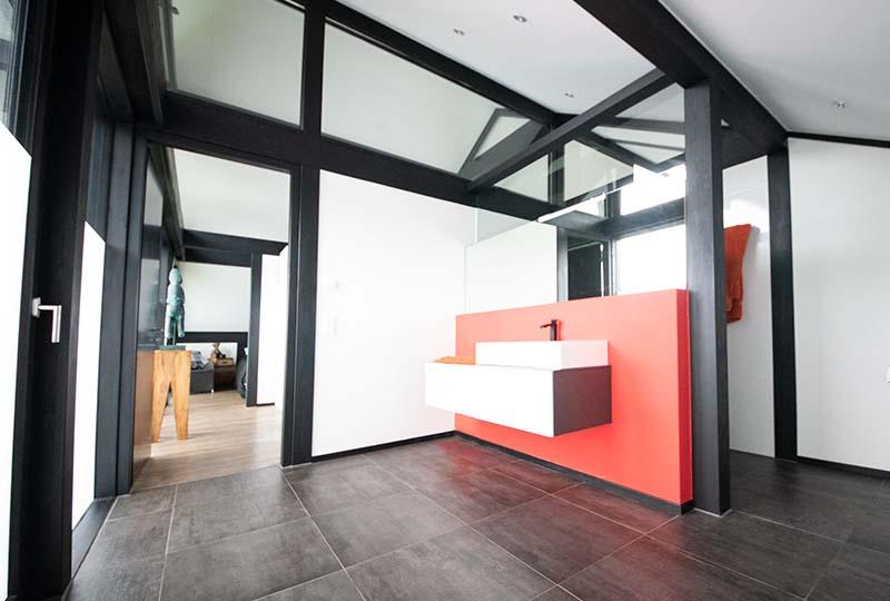 Detmolder Fachwerkhaus – Modernes Baddesign