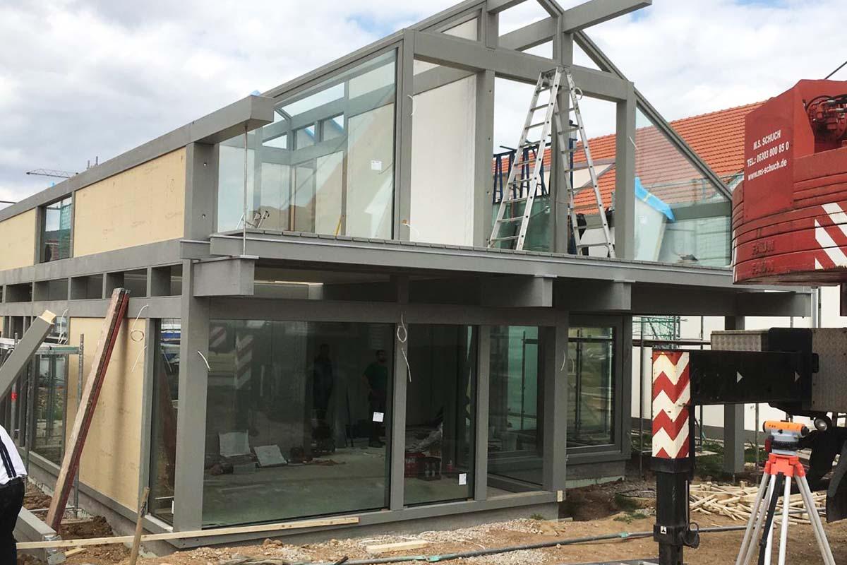 Modernes Fachwerkhaus Mannheim 2