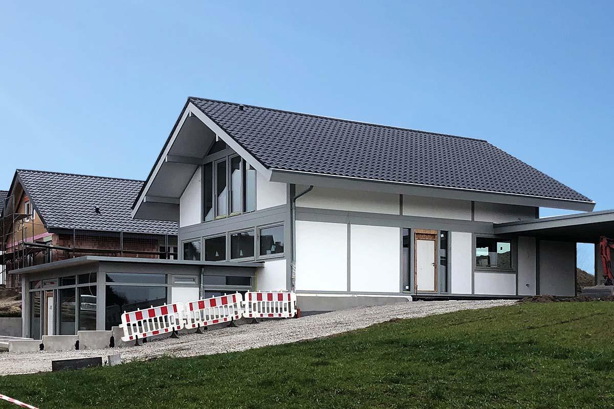 Modernen Fachwerkhaus mit Flachdachanbau 4